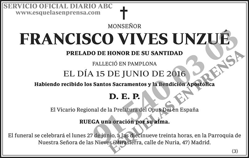 Francisco Vives Unzué
